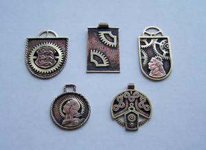 Clockpunk pendants 2