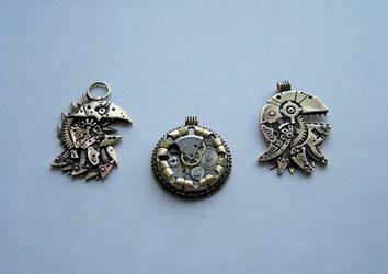 Clockpunk pendants 3