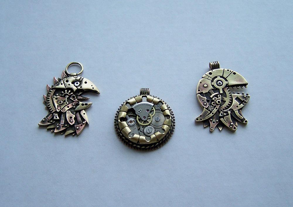 Clockpunk pendants 3 by Astalo
