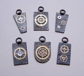 Clockpunk pendants 4