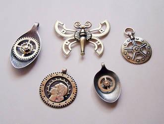 Clockpunk pendants 5 by Astalo