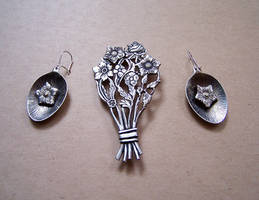Spoon jewelry set 1 by Astalo