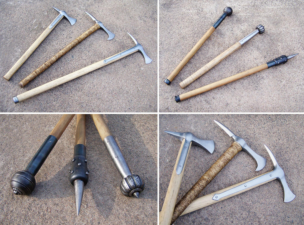 Axes and maces by Astalo