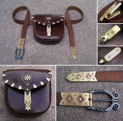 Historical belt and pouch