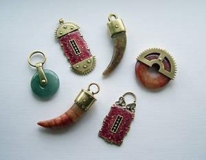 Clockpunk pendants 8