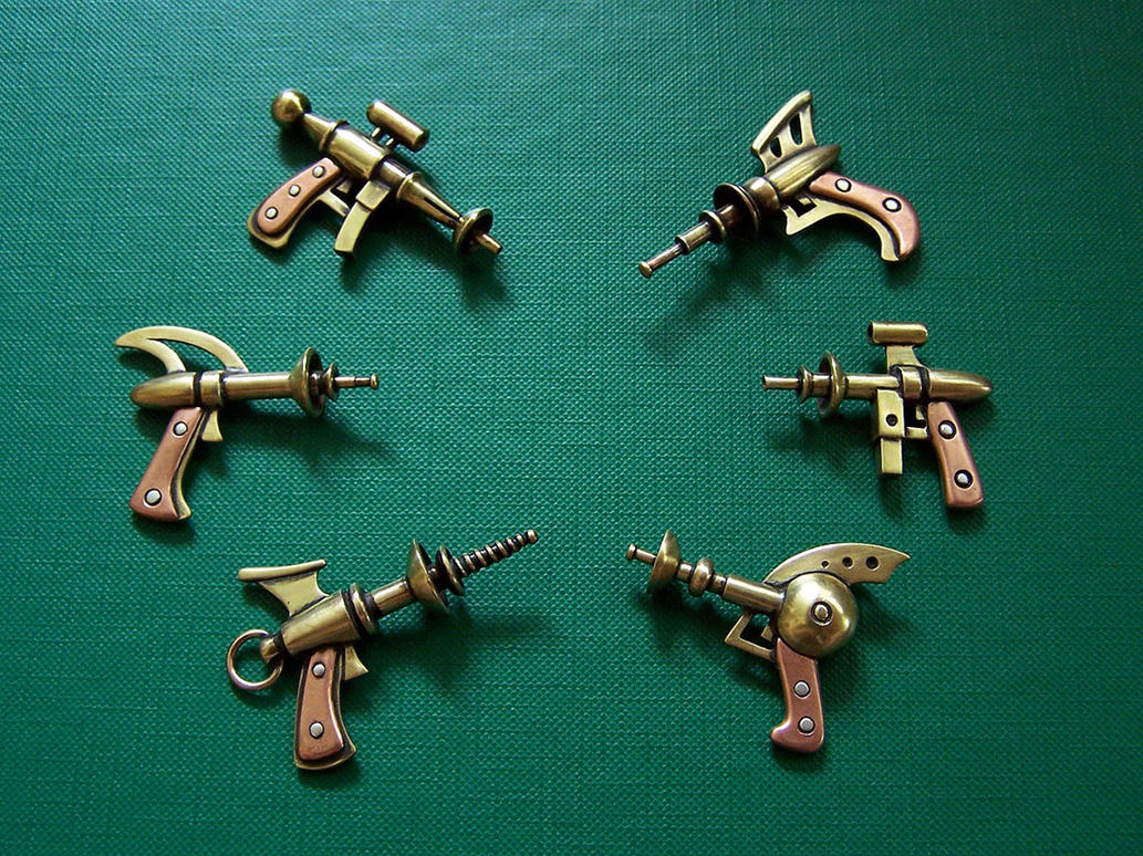 Raygun pendants by Astalo