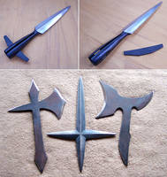 Spearhead and medieval throwing weapons by Astalo