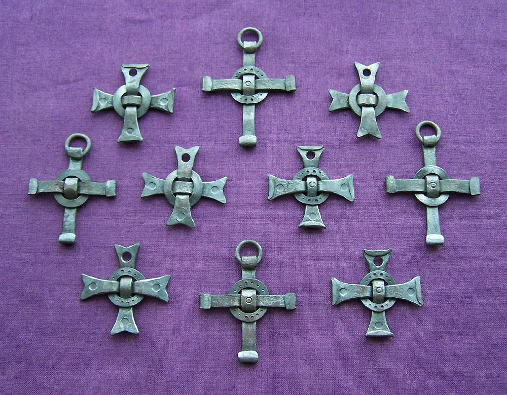Forged Steel Crosses : Forged steel pendants by astalo on deviantart