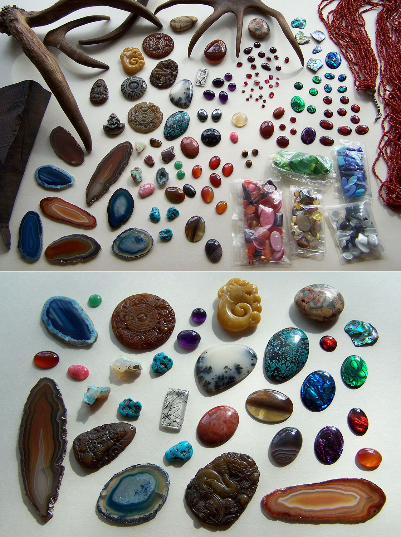 Gemstones and antlers
