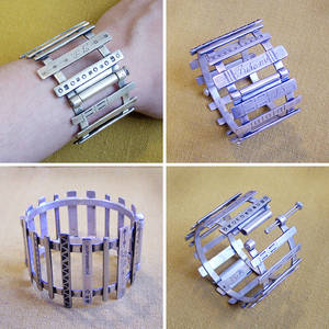 Bracelet from recycled silver