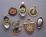 Clockpunk pendants 11
