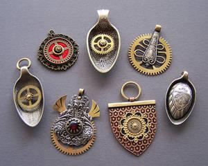 Clockpunk pendants 11