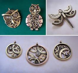 Clockpunk pendants 12