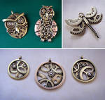 Clockpunk pendants 12