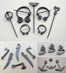 Steel brooches and pendants 3
