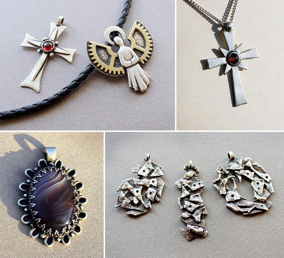 Silver jewelry 6 by Astalo