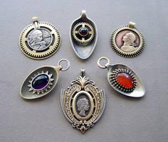 Clockpunk pendants 14 by Astalo