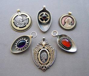 Clockpunk pendants 14