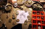 Steampunk jeweler's workbench