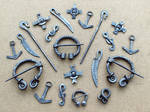 Steel brooches and pendants 4