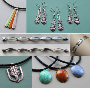 Jewelry from recycled silver