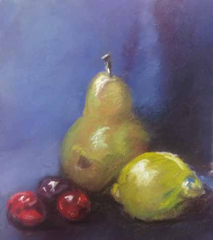 Still Life with Pear and Lemon by MountainInspirations