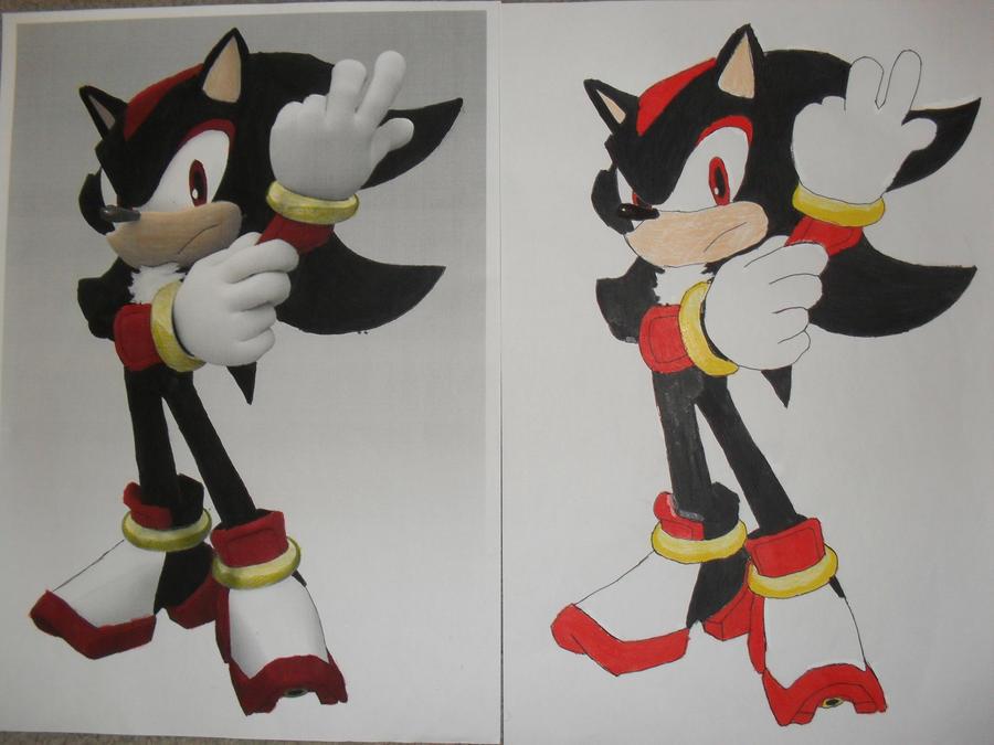 Shadow the Hedgehog drawing by Shadilverfan55