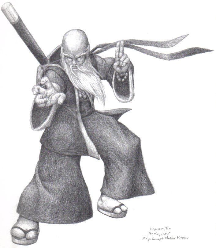 Ninja Concept: Master Hiroshi by DRa90NBoi