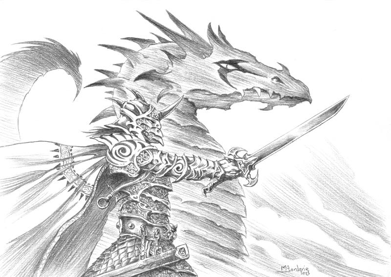 Dark Knight and Dragon by BatMiB on DeviantArt