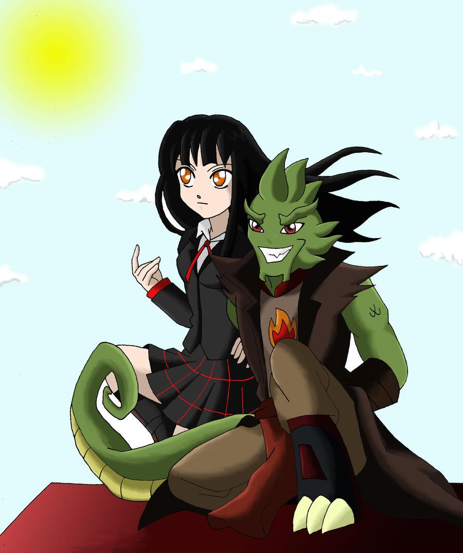 Misa and Drago comission by AmyroseHaruka