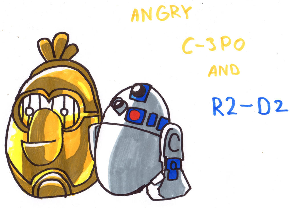 R2d2 And C3po Drawing C3po r2d2 by YouCanDrawIt