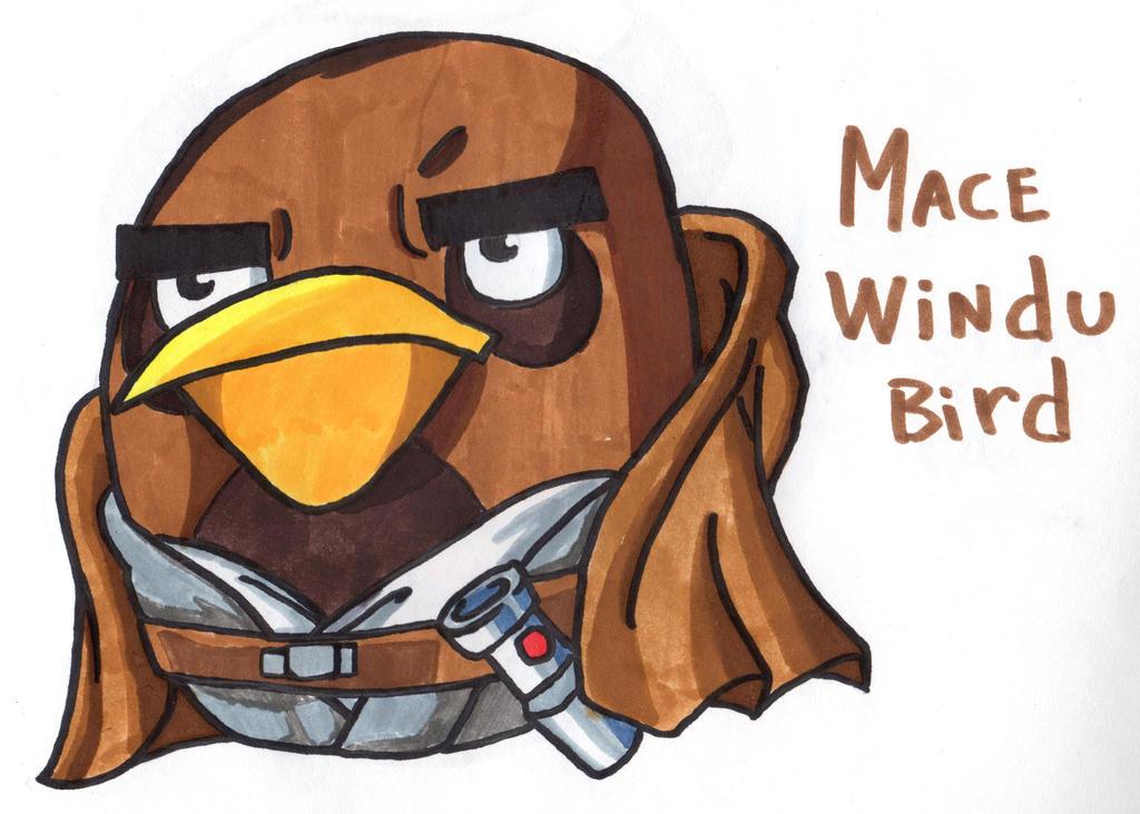 Mace Windu Bird by YouCanDrawIt on DeviantArt Angry Birds Star Wars 2 Mace Windu 3d