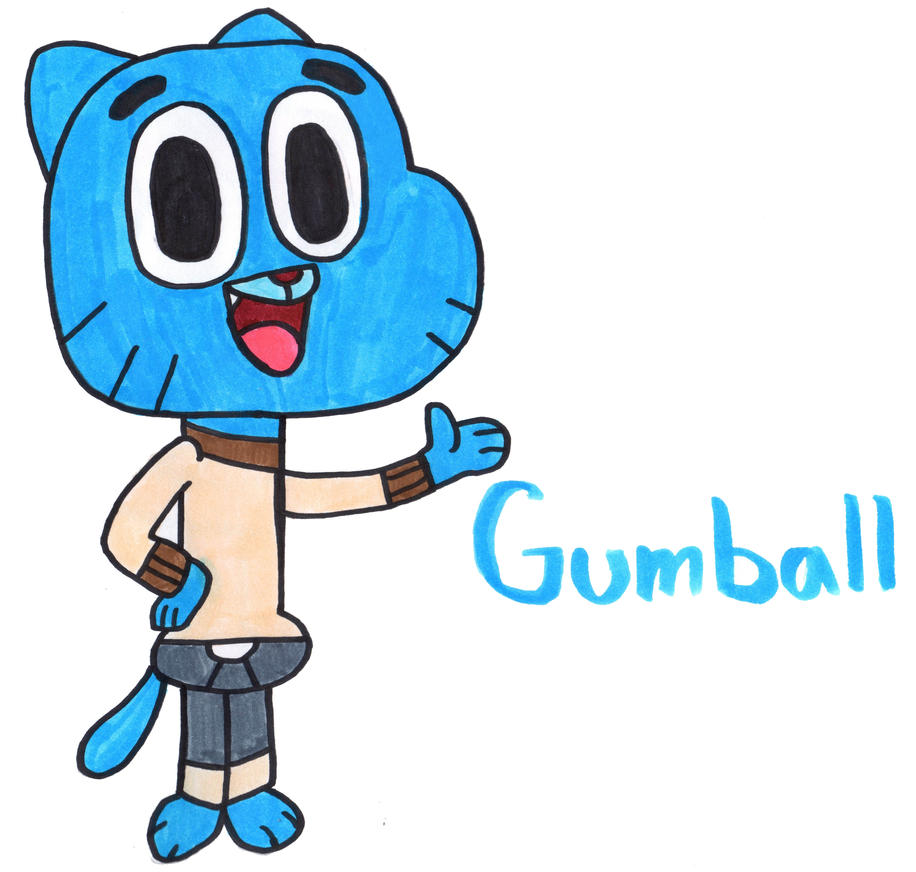 Gumball Watterson by YouCanDrawIt