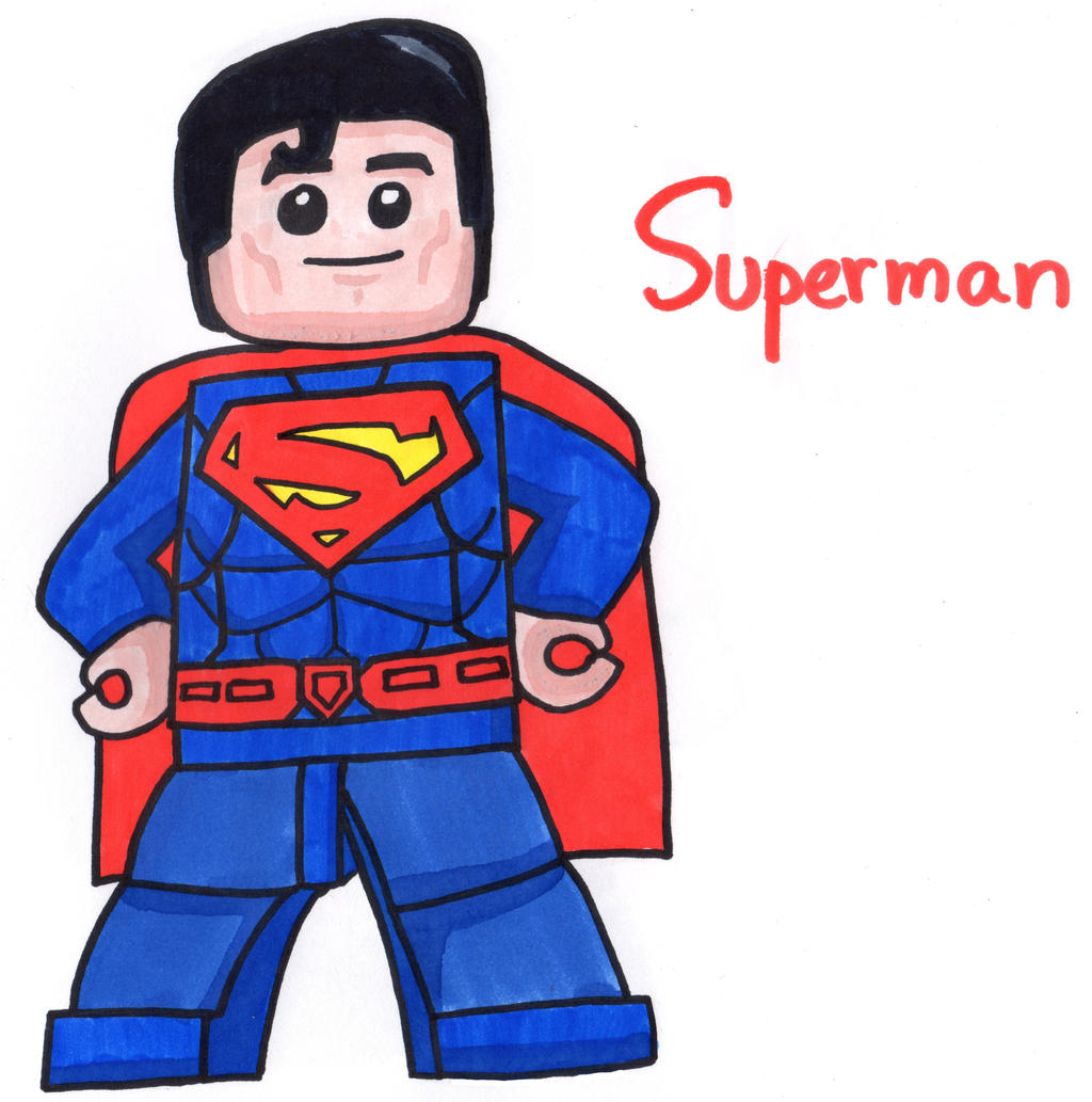 lego superman by youcandrawit on deviantart
