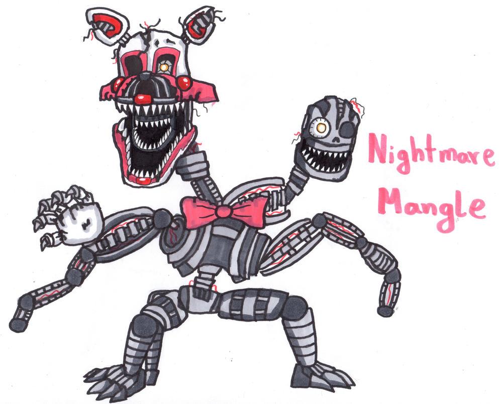 fnaf 4 mangle nightmare - photo #26