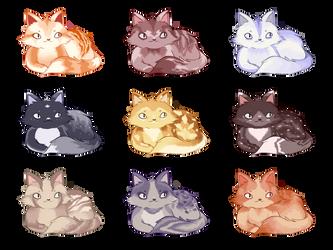 [OPEN 9/9] [ON SALE!] Cat adoptables by Reykku