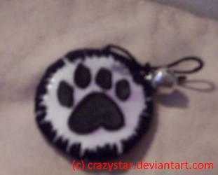 CatPaw Pin- Black n Silver by crazystar