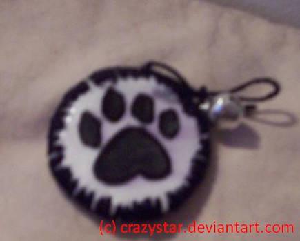 CatPaw Pin- Black n Silver
