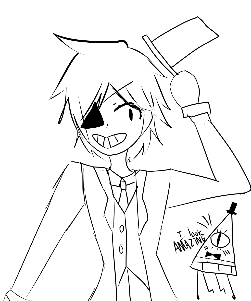 Bill cipher coloring pages ~ Bill Cipher Key Chain Sketch Coloring Page