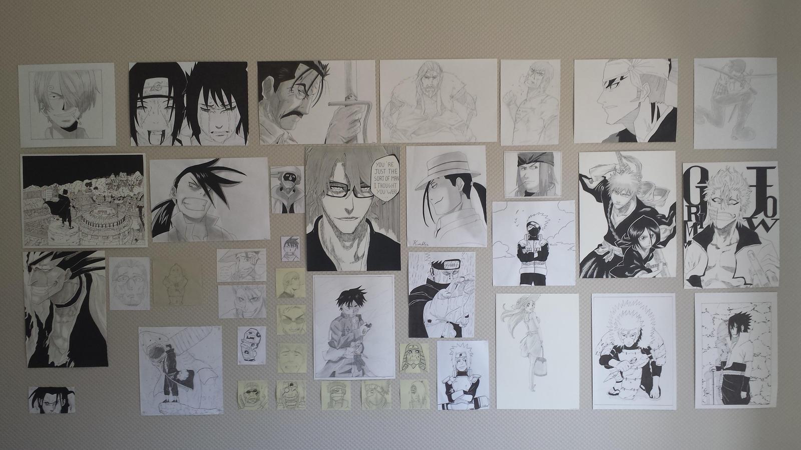 Wall Manga Drawing By Leboubou On Deviantart