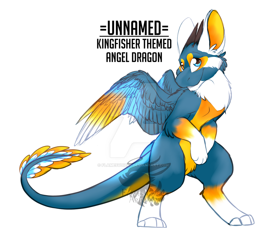 Angel Dragon: Unnamed Kingfisher Wisher AD By FlamesVoices On DeviantArt