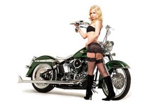 Hot Girl, Custom Bike by 24pack