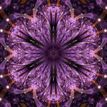 Flower fractal mandala