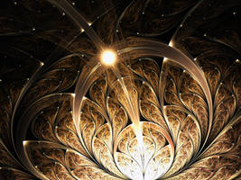 Golden Magical Fractal Plant by KeilaNeokow