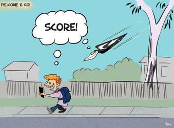 Magpie swooping season by Sopecartoons