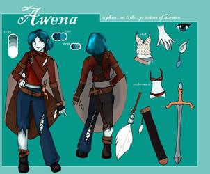 Awena -  Character Sheet by Dish-chan
