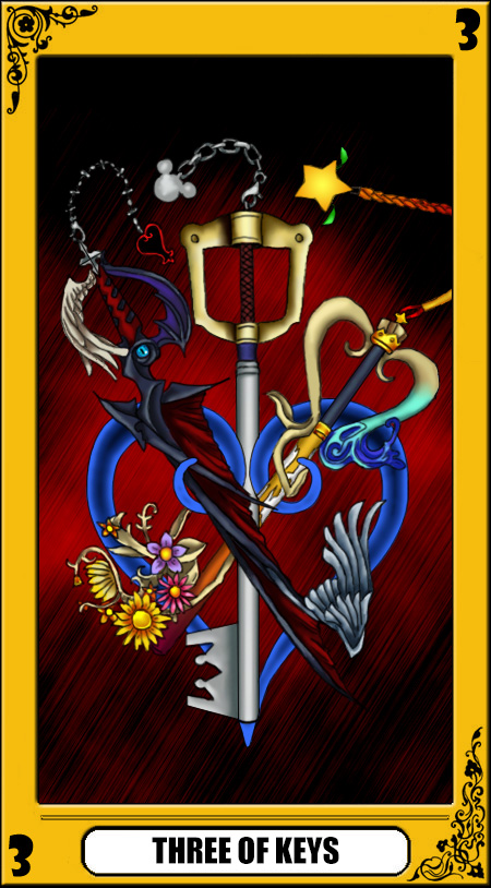 KH Tarot: Three of Keys by way2thedawn