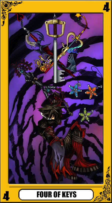 KH Tarot: Four of Keys by way2thedawn