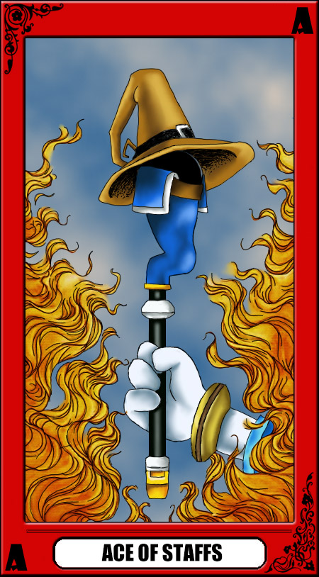 KH Tarot: Ace of Staffs by way2thedawn