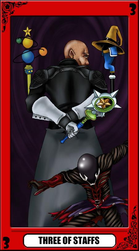 KH Tarot: Three of Staffs by way2thedawn